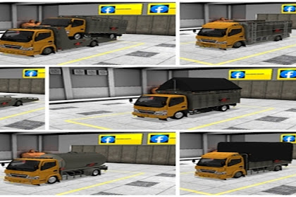 Kumpulan MOD Truck Canter BUSSID Lengkap By Muhklas WSP Mods