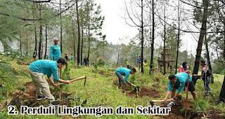 Peduli Lingkungan dan Sekitar merupakan salah satu fakta unik generasi milenial