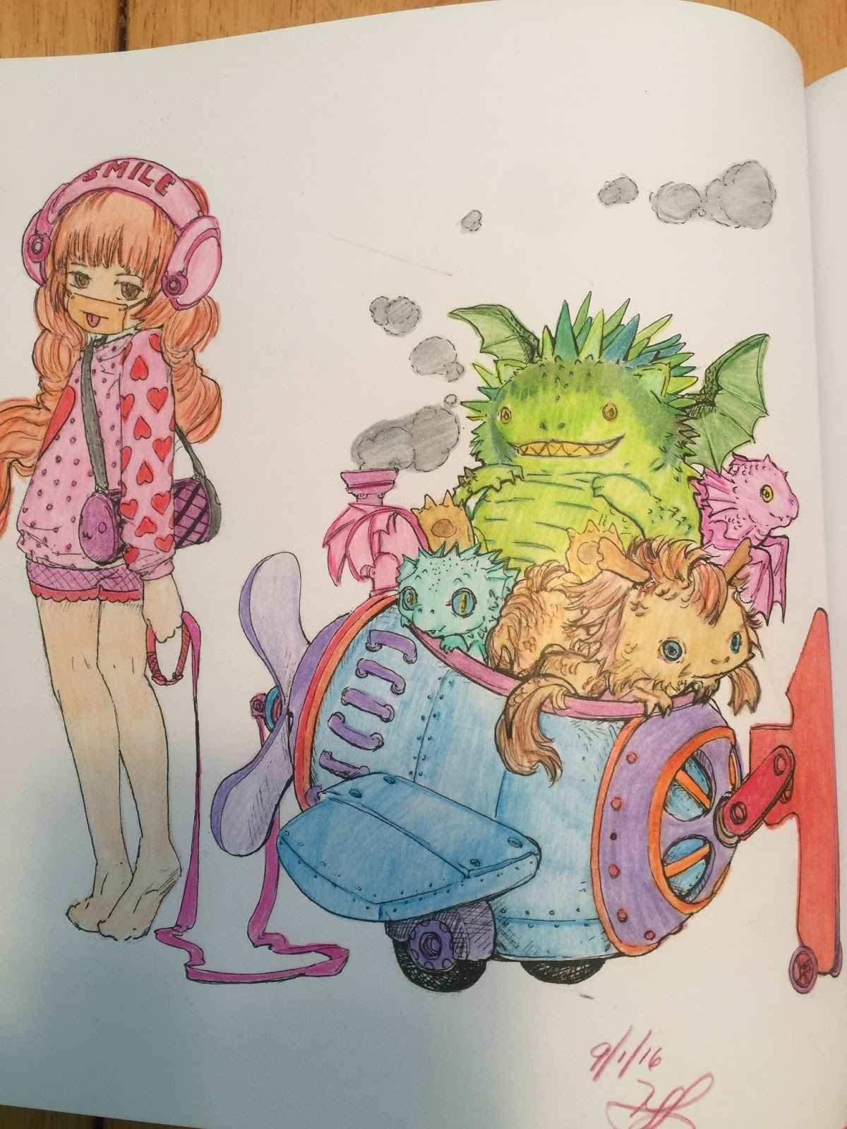 i have a sample of uncolored pages from this book and the two that i colored i had fun and felt free to create with colors and coloring style - Manga Coloring Book