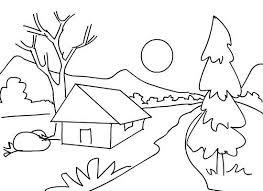 contoh gambar pemandangan alam pegunungan
