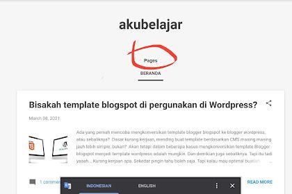 cara menghilangkan judul bawaan widget Pagelist pada template Essentials