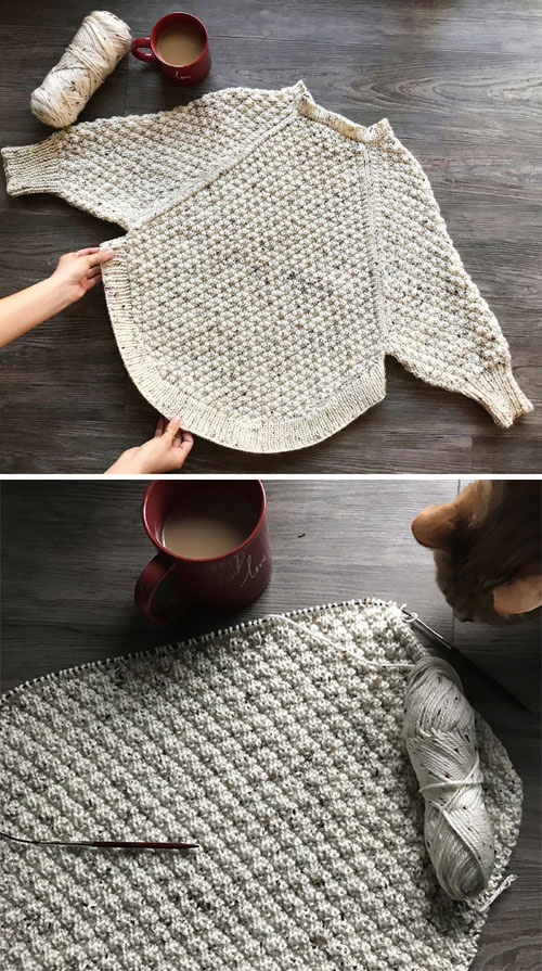 Great Curves Knit Poncho - Free Knitting Pattern