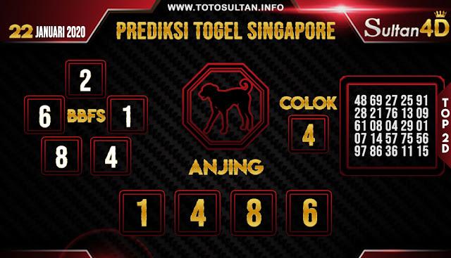 PREDIKSI TOGEL SINGAPORE SULTAN4D 22 JANUARI 2020