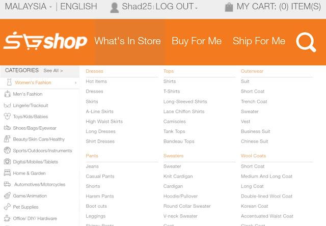 SGShop Goods Categories
