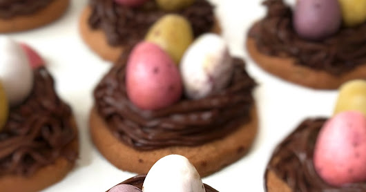 Easter Egg Chocolate Nest Cookies