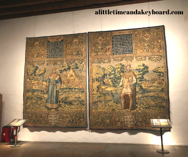 Tapestries from the 16th century tell the history of Denmark at Kronborg Castle.