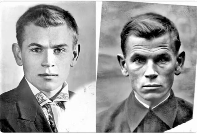 Estas imágenes muestran al soldado Yevgeny Kobytev antes y después de la guerra, en 1941 y 1945.  Источник: https://fishki.net/3675041-20-ljubopytnyh-faktov-iz-istorii-pokazhut-mir-s-drugoj-storony.html © Fishki.net
