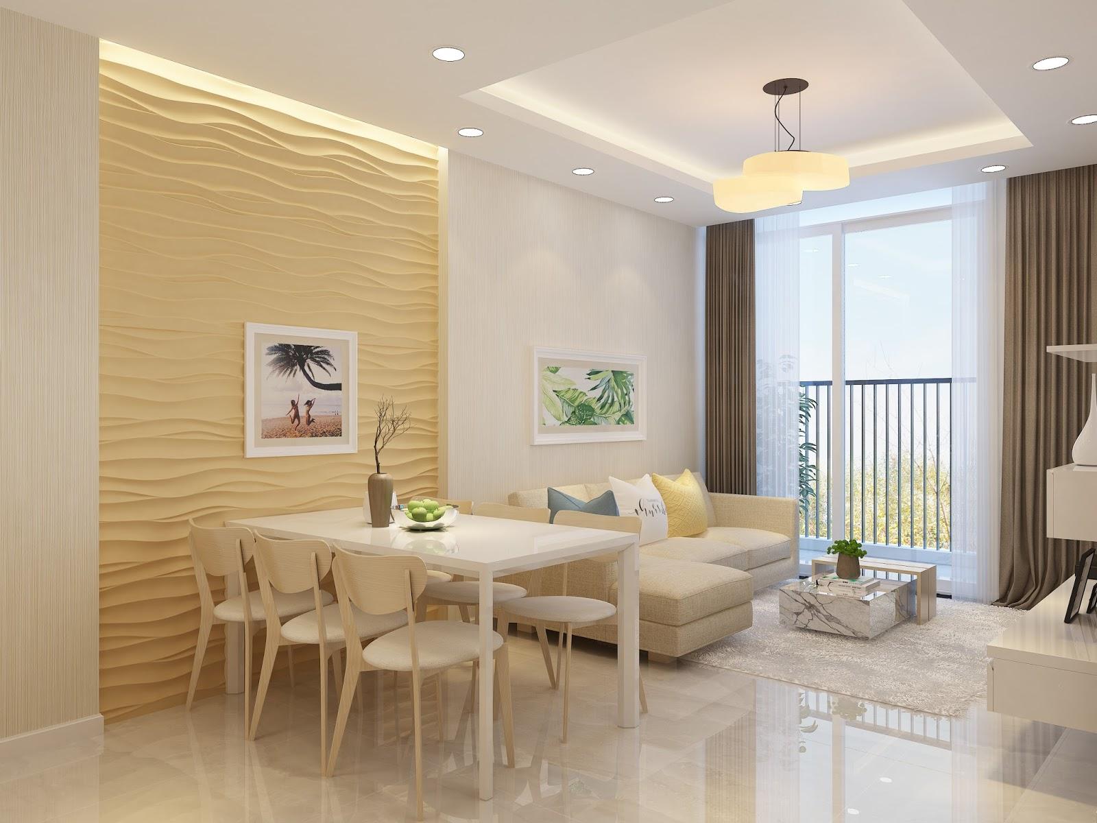 Thiết kế phòng khách căn hộ Mỹ Đình Pearl
