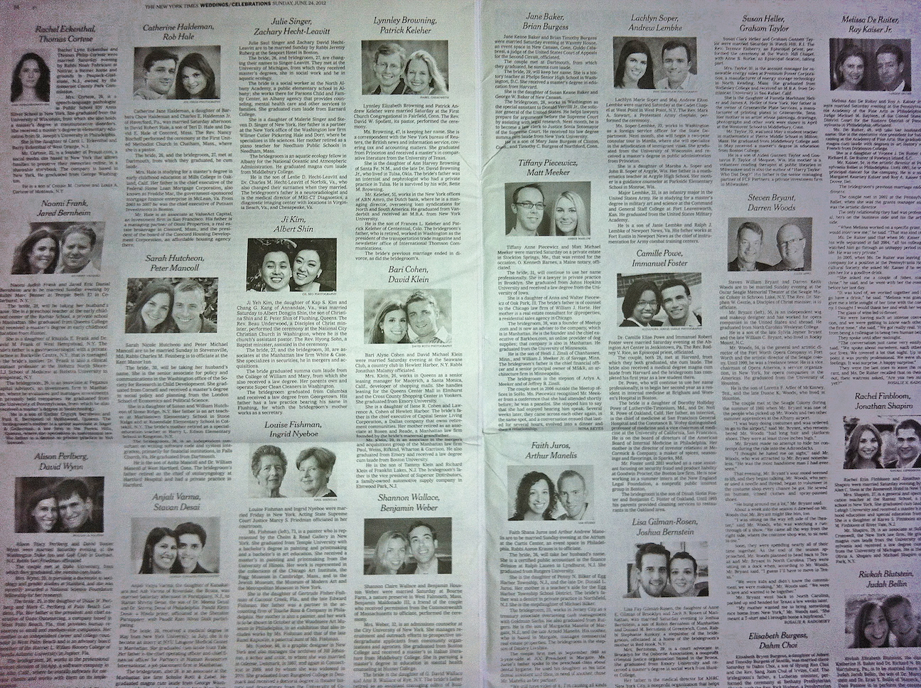 New York Times Wedding Announcement.Innovation Design In Education Aside Educational Style The Self