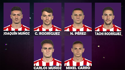 PES 2017 Facepack Atletico Madrid Young Player by FR Facemaker
