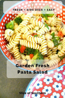 Light and Refreshing Garden Fresh Pasta Salad is so outstanding an emplty bowl is all that will be left! - Slice of Southern