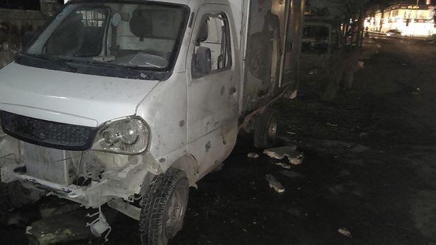 جرحى نتيجة اعتداءات إرهابية بالقذائف على مدينة حلب.