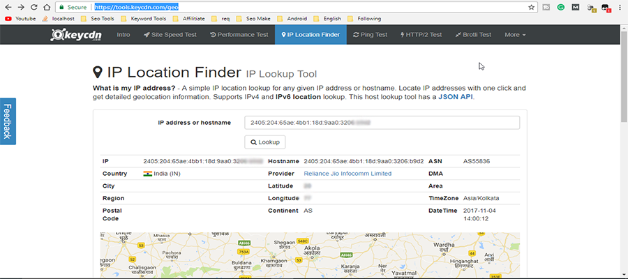 user location finding using ip