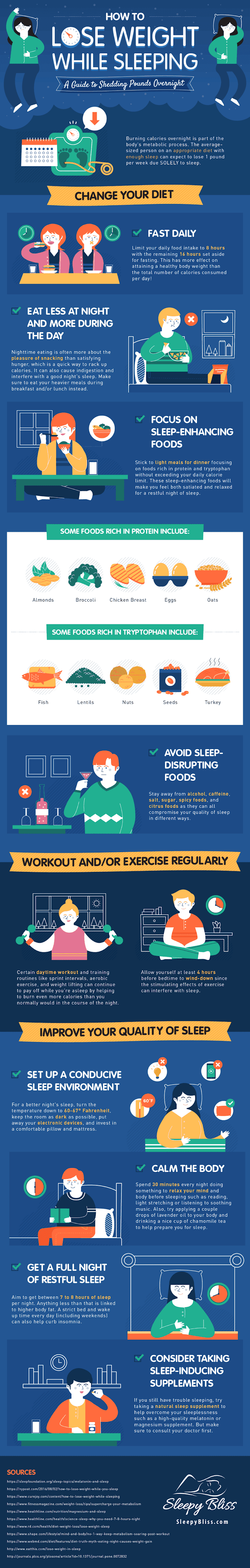 How To Lose Weight While Sleeping #infographic #Sleep #Sleeping Guide #Lose Weight #Weight Loss