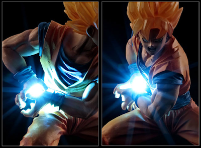 Action Figure LED Son Goku Kamehameha 08