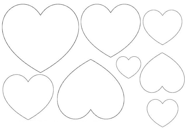Desenho De Coracao Grande Para Imprimir: Molde De Coração De Feltro Para Imprimir