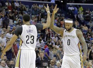 Anthony Davis and DeMarcus Cousins High Five