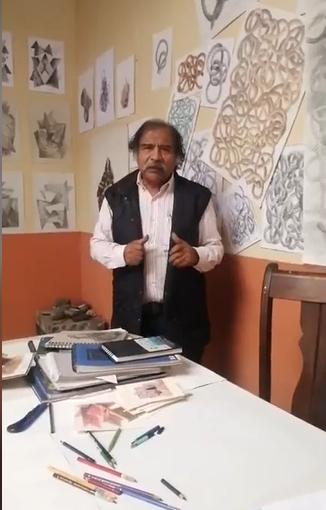 Artista Pedro Caballero expone lo mejor de su arte