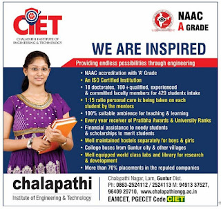 CHALAPATHI INSTITUTE OF ENGINEERING &TECHNOLOGY GUNTUR