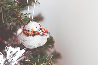 decorazione albero Natale pupazzo di neve