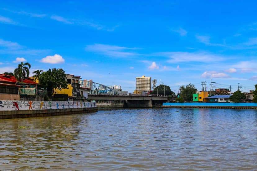 Pasig River clean waters and blue sky