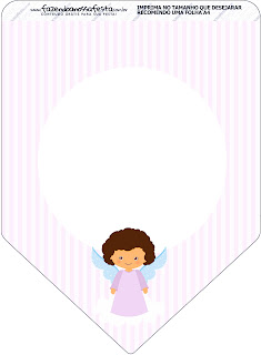 Brunette Angel Girl,  Free Printable Banner.