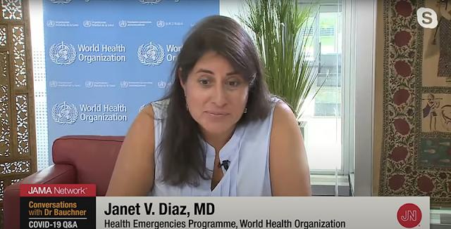 Dra. Janet Díaz, del programa de emergencias de salud de la OMS