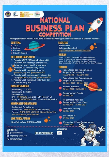 National Business Plan Competition SMA/K MA/K 2021