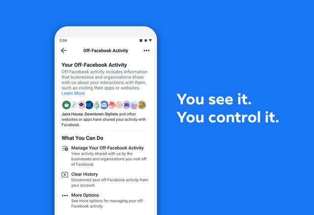 كيفية استخدام الميزة الجديدة لإيقاف تتبع نشاطك علي فيسبوك Off-Facebook Activity