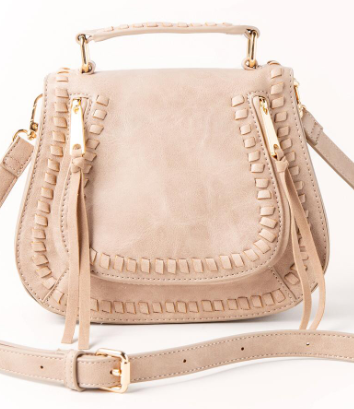 1. Liv Whipstitch Top Handle Crossbody - Francesca's Bag - Affordable by Amanda - 5 Recent Fall Purchases Under $100