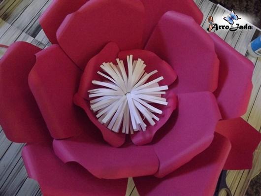 Flor de papel passo a passo