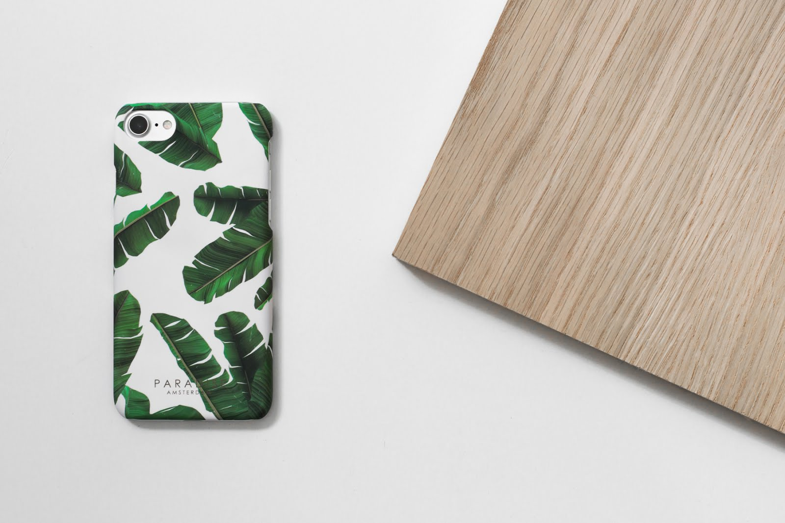 Paradise amsterdam, iphone 7 case, island leaves, tropical