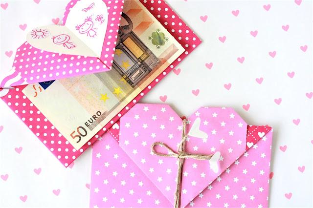 Herz-Kuverts für Geldgeschenke