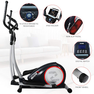 SNODE E20i Magnetic Elliptical Machine Trainer, image, review features & specifications