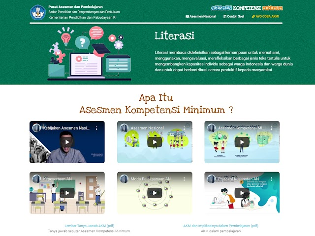 Mengenal Asesmen Nasional: Asesmen Kompetensi Minimum Literasi dan Numerasi, Survei Karakter, dan Survei Lingkungan Belajar