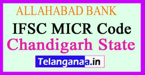 ALLAHABAD BANK IFSC MICR Code Chandigarh State