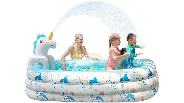 Doctor Dolphin Inflatable Pool for Kids