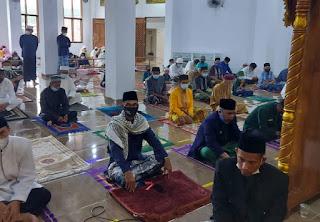 shalat Idul Fitri 1442 Hijriah dengan alokasi tempat sekitar 50 persen dari total kapasitas mencapai 5.00 jamaah.