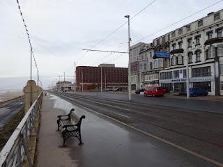 Scene of Alan Bradley's Coronation Street Death by Tram outside The Strand Hotel in Blackpool