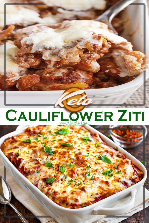 Keto Cauliflower Ziti | This Ziti Bolognese Cheed Baked Cauliflower recipe is perfect for those of you who are on a diet program, because this is very low in carbohydrates.
