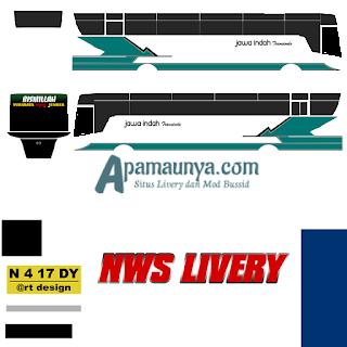 Livery bus titanium trisakti jawa indha