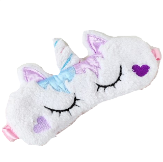 plush, unicorn, jednorog, mekani, plišani, eyemask. sleep mask, sleeping mask, maska za oči, maska za spavanje, šarena, multicolor, adorable