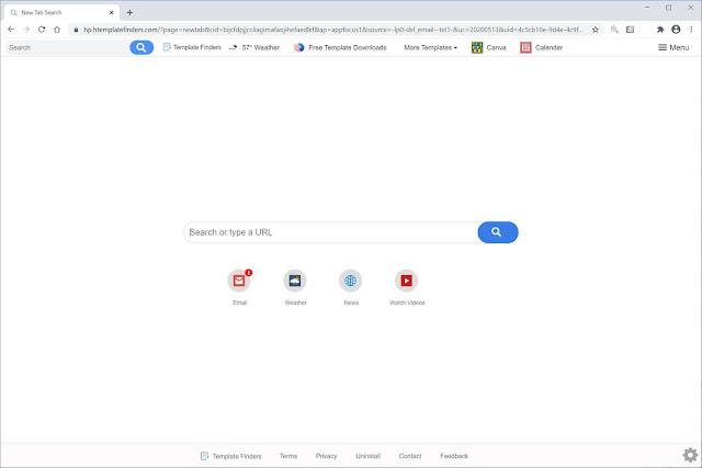 Search.htemplatefinders.com (Hijacker)