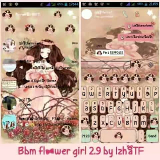 Download BBM Mod Flower Girl v2.9 By izhaTF Apk Terbaru 2017