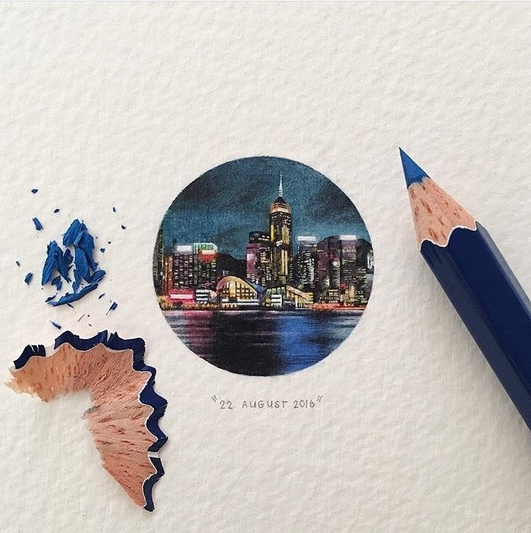 02-Hong-Kong-s-Victoria-Harbour-Lorraine-Loots-Tiny-Miniature-Mixed-Media-Animals-and-Architecture-www-designstack-co