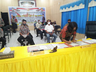 Wujudkan Rekrutmen Polri Yang BETAH, Panbarim Polres Tana Toraja melibatkan pengawas Internal Polri, Eksternal, LSM dan Media