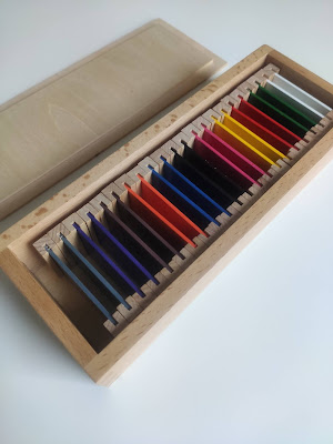 boîte de couleurs montessori n° 2