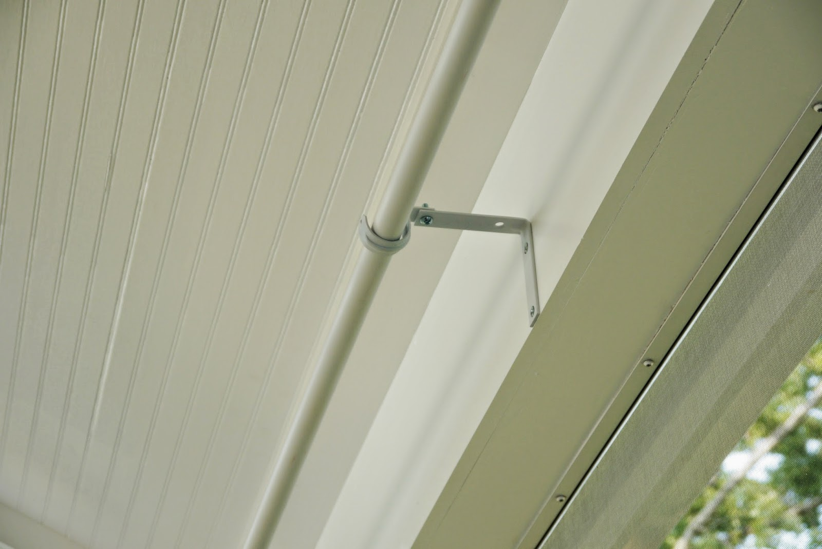 Strawberry jam house pvc pipe curtain rods for Pvc pipe shade