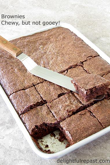 Brownies - Chewy, Fudgy, Not Cakey, Not Gooey/ www.delightfulrepast.com