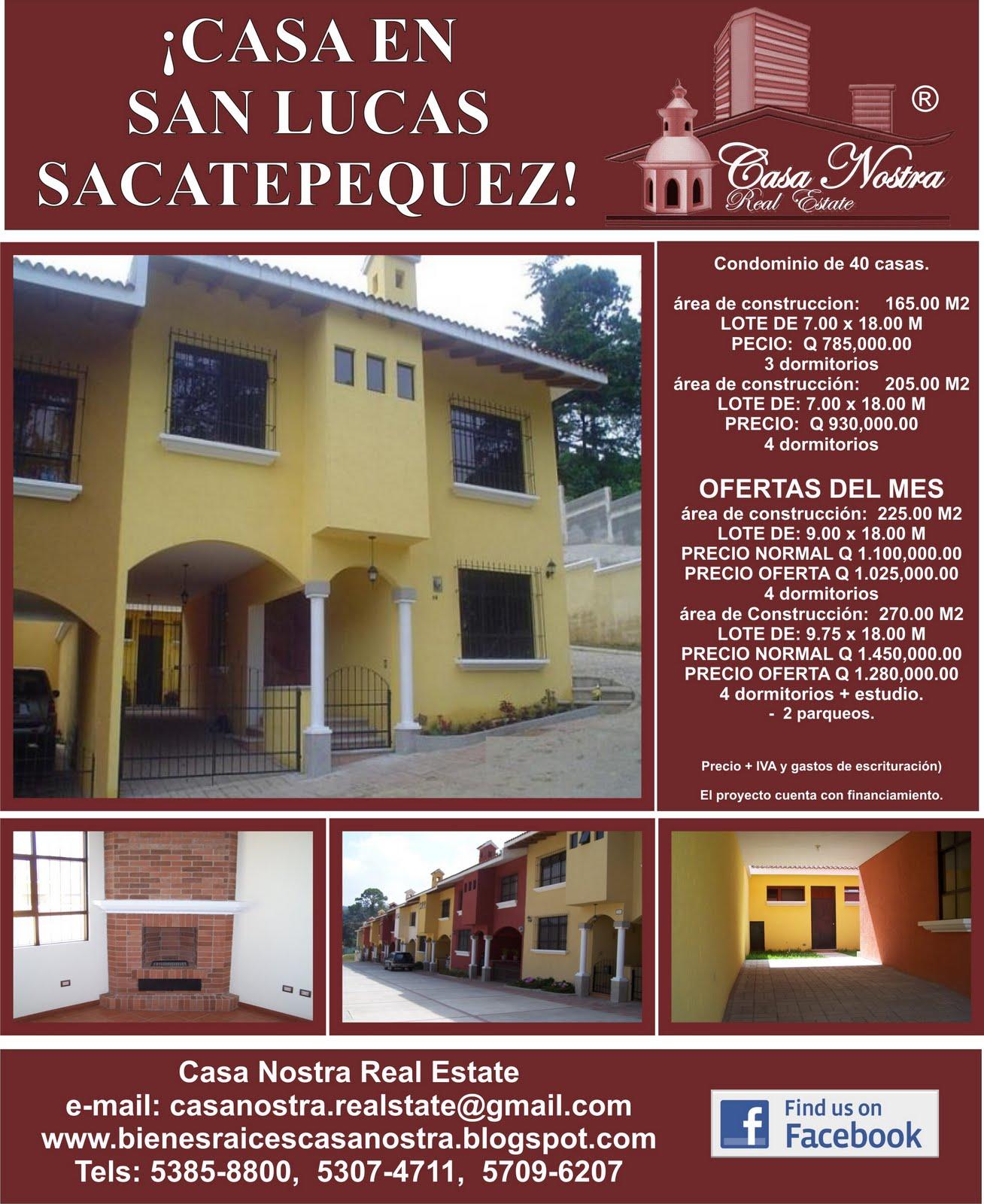 Disenos De Casas En Guatemala: Casa Nostra Real Estate: Casas En Venta En Proyecto En San